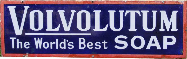 Volvolutum Soap enamel advertising sign - Bluebell Railway Museum