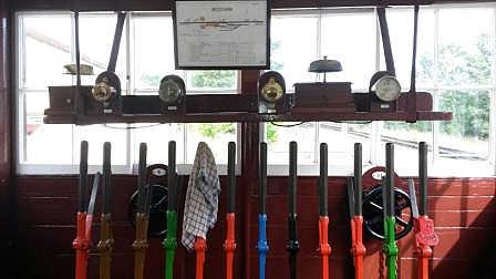 Withyham Signal Box - Levers